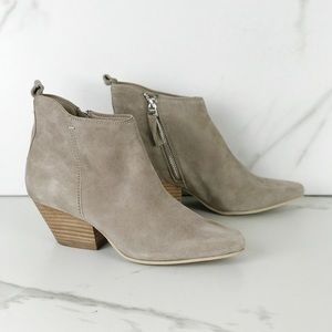 Dolce Vita Suede Taupe Ankle Boot Western 7.5